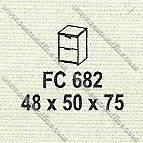 Filling Cabinet 2 Laci Modera M - Class FC 682