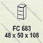 Filling Cabinet 3 Laci Modera M - Class FC 683