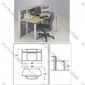 Meja Resepsionis Modera Reception Desk & Podium MRFP-1118