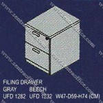 Filling Cabinet 2 Drawer Uno Classic Series