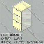 Filling Cabinet 3 Laci Uno Platinum Series