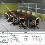 Meja Oval Conference Modera MT-3215 MH