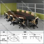 Meja Oval Conference Modera MT-4420 MH
