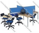 Konfigurasi 4 Orang + Coffe Table (Warna Biru)