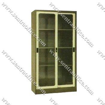 lemari arsip 2 pintu sliding kaca tinggi elite el-438