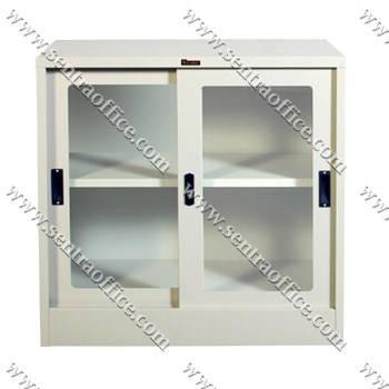 lemari arsip pintu sliding kaca lion l.31k
