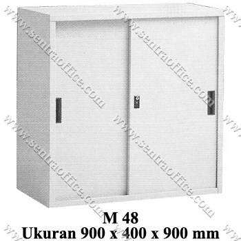 lemari arsip pendek pintu sliding modera type m 48