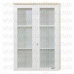 Lemari Arsip Medium Pintu Kaca 3 Ruang Uno Modern Series Type UST 7465