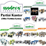 Partisi Kantor (Office Partition) Modera