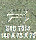 Meja Kantor ½ Biro Modera S - Class SOD 7514