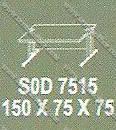 Meja Kantor 1 Biro Modera S - Class SOD 7515