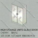 Lemari Arsip Tinggi 2 Pintu Kaca Uno Platinum Series