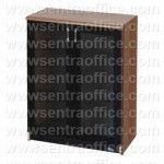Lemari Arsip Medium Pintu Kaca 3 Ruang Uno Lavender Series Type UST 8474